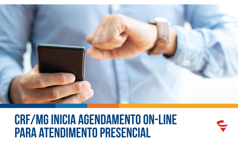 CRF/MG inicia agendamento on-line para atendimento presencial